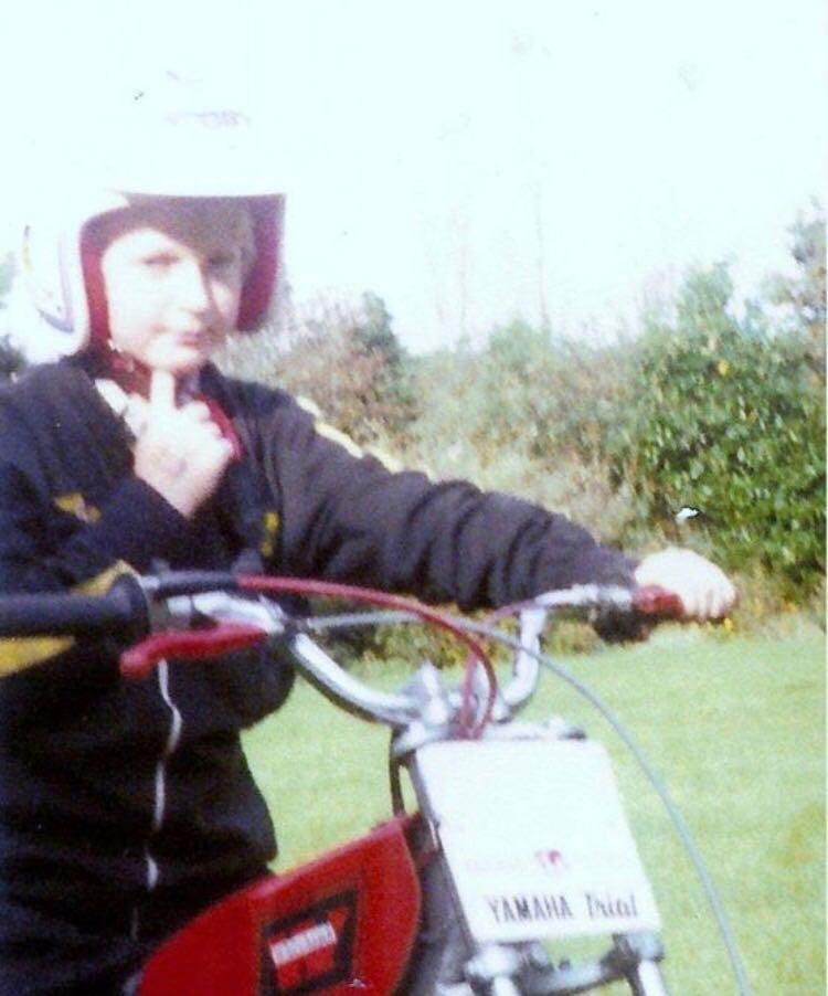 Dan on the Yamaha TY80