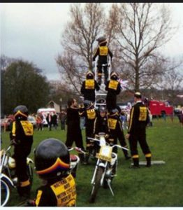 I started riding when I was seven in a motorcycle display team & the bikes we used were trials bikes, as the display team was a spin-off of the Waltham Chase Trials Club.
