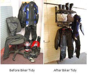 Before Biker Tidy & after Biker Tidy