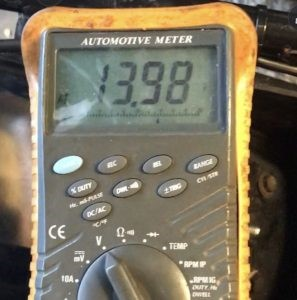 With your multimeter cross the battery positive & negative, crank the engine the battery voltage should not drop below 7v if it does your battery will need replacing.