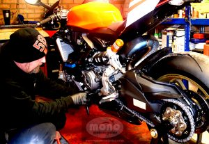 Daniel Morris - Master Technician/Proprietor of mono motorcycles & vehicle security servicing the Ducati 1199 Superleggera 2014 (SN293/500)