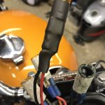 New crimps fitted and heat shrunk to stop the wires pulling off during fitting