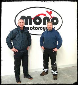Mark Abbott with Daniel Morris - Proprietor of mono motorcycles & vehicle security