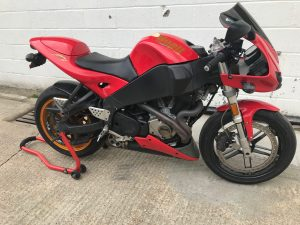 The Buell Firebolt XB12R was ridden away from the workshop on Saturday 22nd September, with her very happy & relieved owner.
