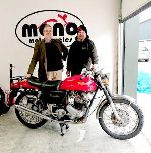 Daniel Morris with Hugh C & the Norton Commando 750