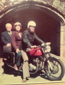"""""""I bought my Norton Commando at the age of 22. I had had my eye on her for a year & was eventually able to buy her with an annuity left to me by an aunt."""