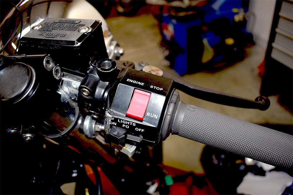 Original Yamaha XJ900 switch assembly.