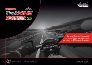 Datatool TrakKING Adventure S5 is the most user friendly and accurate motorcycle tracking system available today, using the latest satellite technology and a multi network roaming SIM, ensuring the widest possible coverage across Europe.