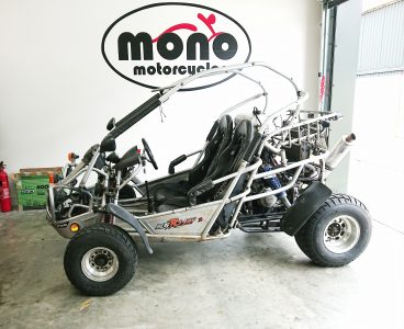 The Polaris buggy with the CBR engine re-joined us Tuesday afternoon, after having been put through for an MOT, she had failed on a few issues.