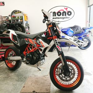 Daniel got a little sentimental on Monday when we welcomed the first of our two KTM's this week, the KTM690 SMCR Supermoto.