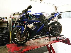 Another regular customer brought his Yamaha R1 to us on Thursday for new chain & sprockets.