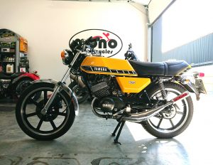 The cool classic of the Yamaha RD125 brought an edge of nostalgia to the workshop on Thursday.