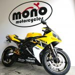 Tuesday was a very busy day at mono motorcycles, as we also welcomed The Yamaha R1 in her popping Yellow livery.
