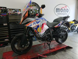 To continue an 'adventure bike' theme, a regular customer's KTM 1290 Super Adventure was recovered to us Tuesday morning.
