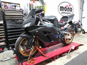 Wednesday we welcomed a Honda CBR1000 Fireblade in matt black & gold livery.