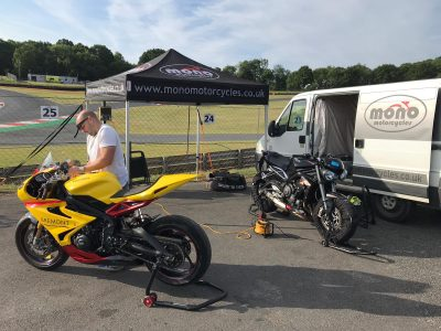 Daniel was out of the workshop on Tuesday this week taking his Triumph RS & the Triumph Daytona 675 Track Bike we have been preparing for the track over the past month.