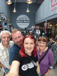 At the weekend we took a journey to visit Katy's parents in Gloucester. We finally introduced Katy's parents to those marvellous people at Oily Rag Clothing, who were as welcoming as ever. Always such a pleasure