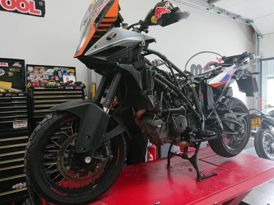 On Wednesday we welcomed the giant KTM 1290 Super Adventure.