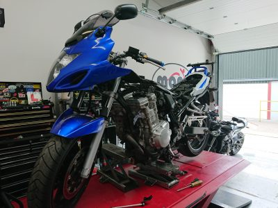 On Monday we started a two day project on a Suzuki GSXF650F