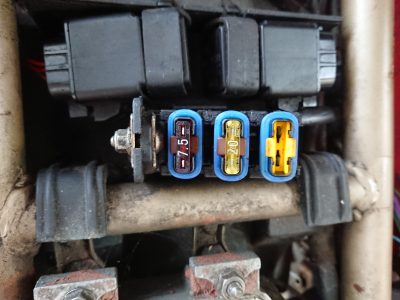 upon further investigation, Daniel checked all of the wiring & the fuses & found the fuel pump fuse had a hairline crack.