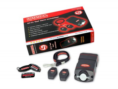 Alarms are a great audible deterrent & the DATATOOL S4 Red alarm, certainly lets you know when a motorcycle has moved without the owner's permission!