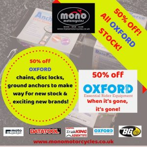 Furthermore, we have a 50% sale on all our OXFORD security items, clearing our stock to make way for exciting new item's & brands. When it's gone' it's gone!