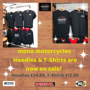 mono motorcycles hoodies & t-shirts are now on sale!