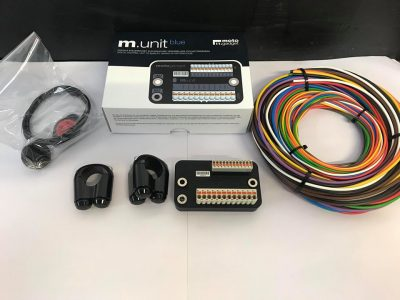 The motogadget m.unit blue has been chosen to replace the old wiring loom & the momentary press push button controls, will do away with the clumsy switch gear from the original motorcycle.