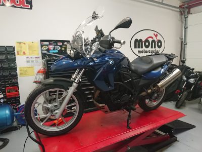 The BMW F650 GS joined us for an interim service & we arranged an MOT.