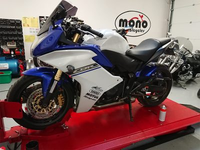 One of our regular customers brought his Honda CBR 600F to us on Wednesday.