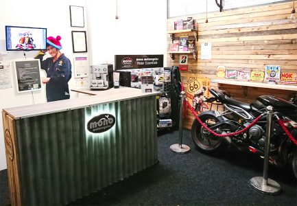 More space for customers to mingle, sales points for our fantastic mono motorcycles hoodies & T-Shirts, Rider Essentials, mono mugs & coming soon, our Saturday 'Coffee Stop!' Watch this space!