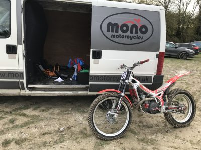 As I had let Zac ride my BETA a few times & he helps me out when I need another pair of hands in the workshop; I thought I would treat him to a day out & arranged to hire a trials bike from Non Stop Trials Centre in Ammanford, Wales.