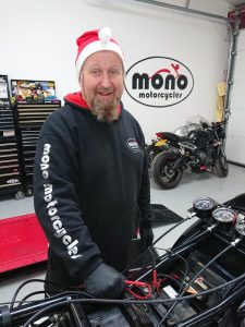 "Once Daniel the 'wiring whisperer' Elf had checked that the magic fuel was fresh, he then checked the motogadget system on the trike (which he had fitted last Christmas) & noticed that it was telling him that a circuit was out."" class=""wp-image-6441""/><figcaption>Once Daniel the 'wiring whisperer' Elf had checked that the magic fuel was fresh, he then checked the motogadget system on the trike (which he had fitted last Christmas) & noticed that it was telling him that a circuit was out.</figcaption></figure>    <p>Using his magical TEXA machine & mulitmeter, Daniel the 'wiring whisperer' Elf traced the wires where the circuit was indicating it had a fault. There nestled in amongst the wiring loom was the problem. A chewed wire! "" class=""wp-image-6442″/><figcaption>Once Daniel the 'wiring whisperer' Elf had checked that the magic fuel was fresh, he then checked the motogadget system on the trike (which he had fitted last Christmas) & noticed that it was telling him that a circuit was out.</figcaption></figure>    <figure class="