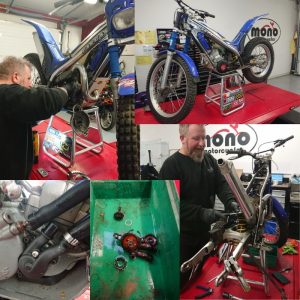 Last week the parts arrived for the GasGas & Daniel set to work tackling the tasks needed to bring the trials bike up to spec.