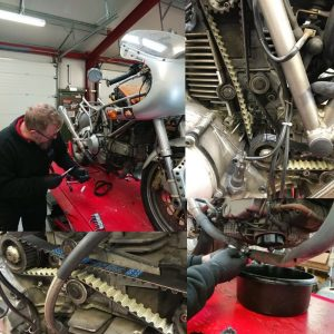 On Thursday, while Daniel waited on parts, he took advantage of a few free moments & turned his attention to his Ducati.