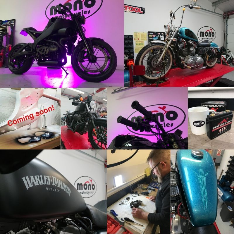 Motorcycle wiring, motogadget, servicing & repairs at mono motorcycles, Chichester