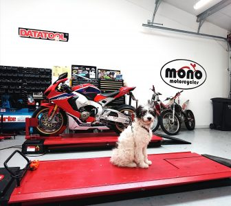 """""""My human, Daniel, has got this gorgeous Honda CBR1000 RR in the mono motorcycles workshop today. The CBR is with Daniel for professional detailing.  I did offer to help, but as Daniel pointed out, I don't have opposable thumbs, so I'd not be much help! All the best, Sprocket"""""""