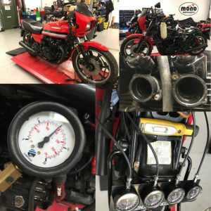 We welcomed a Kawasaki GPZ1100 to the workshop this week & it arrived with a considerable running issue.
