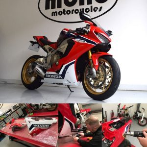 On Monday we welcomed the simply immaculate Honda Fireblade CBR1000 RR, who joined us for a full professional detail, seasonal protection & ceramic coating/NANO seal.