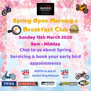 Mono motorcycles Spring Open Morning & Breakfast Club 15.03.2020