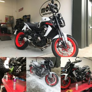 On Tuesday we welcomed a very cool Yamaha MT09.