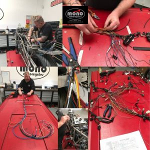 With most wiring looms we build we normally remove a massive about of wire. Not with this one! We added around 60 metres of wire due the stretched frame & the ECU being at the rear.