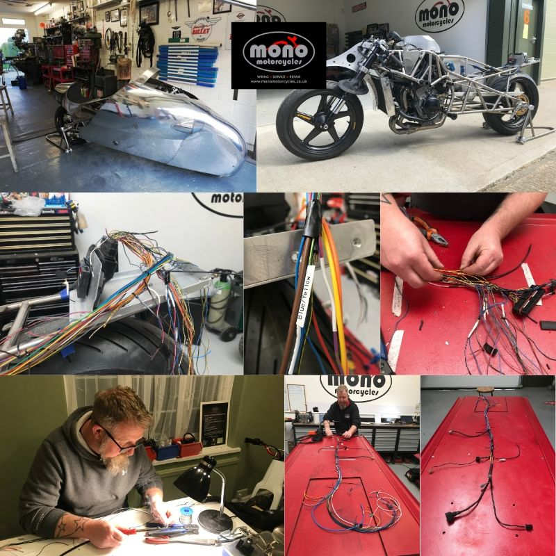 Pendine Sands Yamaha R1 land speed motorcycle wiring & development