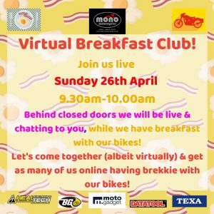 Let's come together (albeit virtually) & get as many of us online having brekkie with our bikes!