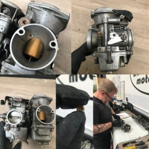 Rebuild on a set of Yamaha Virago carbs sent to us in the post!