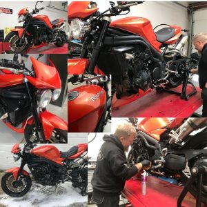 On Tuesday we welcomed a Triumph Speed Triple for detailing & ACF50 treatment.