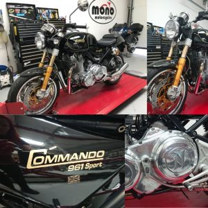 On Tuesday 19th May we welcomed a stunning Norton Commando 961 Sport to the mono motorcycles workshop.