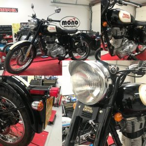 At the beginning of the week  we welcomed a lovely Royal Enfield to the workshop.