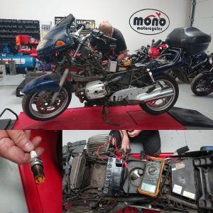On Tuesday 12th May we welcomed a BMW R1150RT to the mono motorcycles workshop.