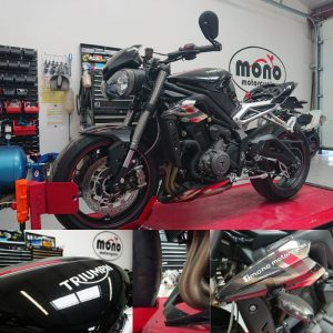 On Monday 18th May the first job was Daniel's Triumph Street Triple RS.